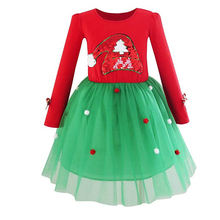 HYB52 Baby Girl Christmas <strong>Dress</strong> <strong>Girl's</strong> Merry Christmas <strong>Dress</strong> Children Kids Cotton Dot <strong>Dress</strong> Girls Tutu Santa Clus Costume