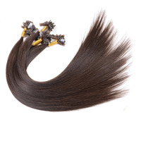 wholesale new arrival V tip extension 16-30 inch virgin brazilian human hair weft color black