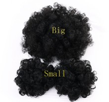 Wholesale Fashion Fake Chignon Kanekalon Fiber Hair Pieces Bun Accessories Easy Wear Afro Hair Bun for Black Women