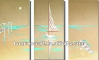 Abstract Oil Painting Sail Boats