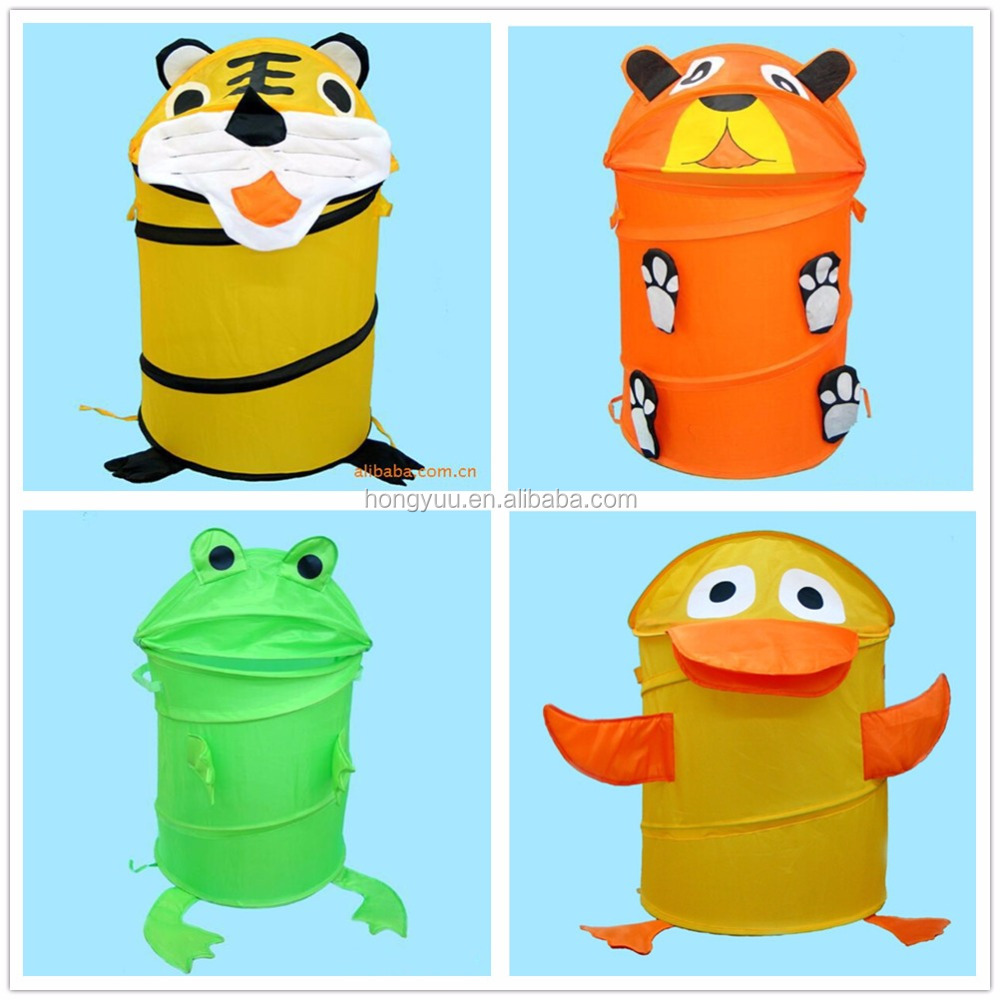 Kids Cute Decorative Animal Shape Folding Laundry Hamper Collapsible Laundry Basket