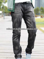 Korean New Style Paint Dots Washed Branded Denim Pants 2014