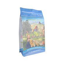 1kg 2kg Recycling No Foil Eight Sides Sealing Pouch Dog Food Packaging Bag With Flat Bottom Side Gusset