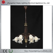 Antique decorative glass flower chandelier lighting/glass pendant lamp