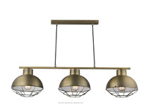 Hotel Metal Pendant Lamp Italian Modern Chandeliers Light E27, 3 Heads with antique bronze color