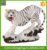 Lifesize home decoration ceramic white tiger large animal statues