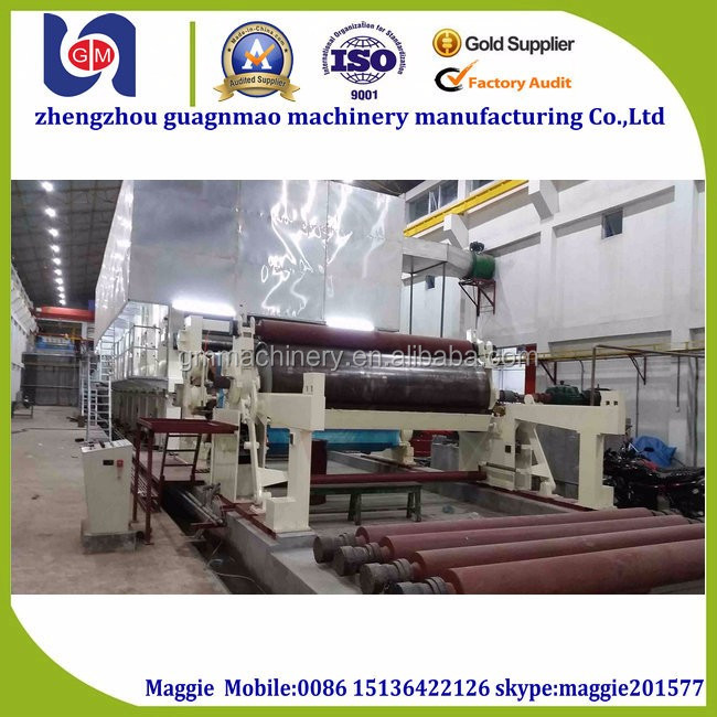 recycle old carton to make corrugated carton cardboard paper making machine in hot selling
