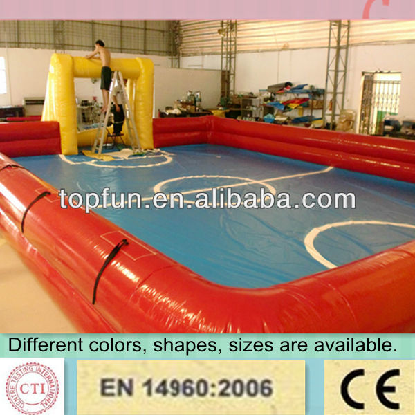 giant inflatable double layers football playgrounds,inflatable soap soccer field