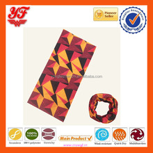 Orange Triangle Custom Cheap Soft Multifunctional Seamless Polyester Neck Scarf for Coolman