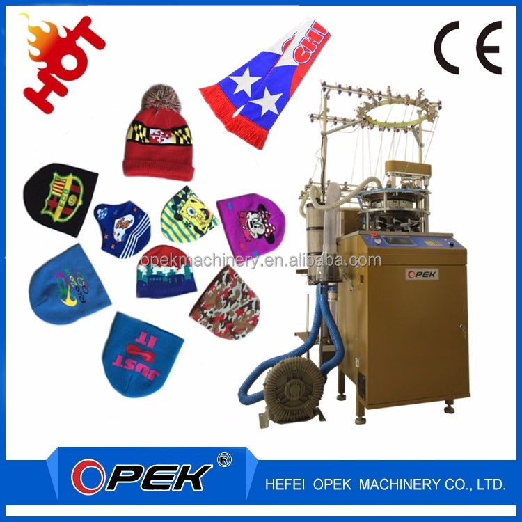Automatic Jacquard Cap Knitting Machine