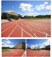 IAAF Approved Prefabricated Rubber Synthetic Running Track Surface For Sports Stadium