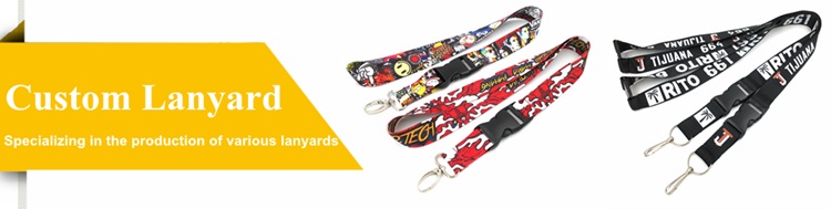 Custom Name Brand Screen-printed Polyester Lanyard With Safety Buckle
