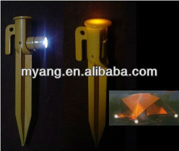 2015 Promotional Camping Ground Peg with Battery/ LED Tent Peg/ LED Light for Outdoor