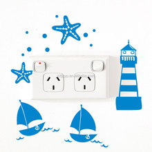 Alibaba retail cartoon diy sticker and socket wall art decal