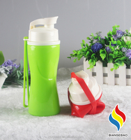 Lightweight silicone collapsible bottles sports