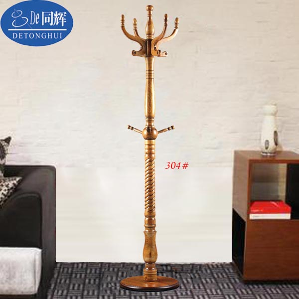 (304#) Popular in Europe Living Room Furniture sell solidwood coat dress hangers stand