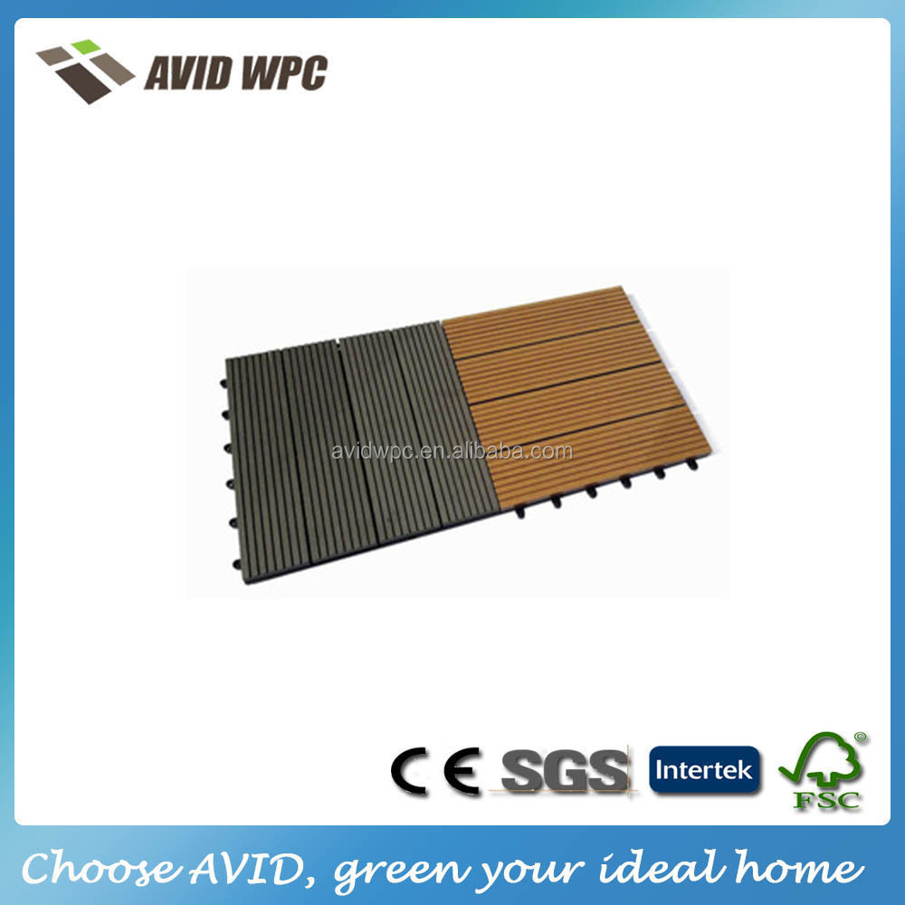 Easy assembly outdoor wpc flooirng tile/cheap floor tile/floor tile designs for sale