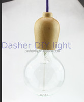 designed colourful cement Pendant Lamp with wooden base