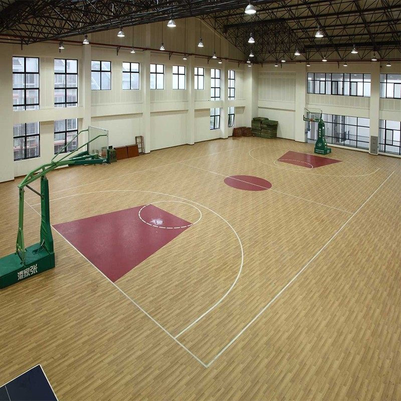 Basketball flooring prices for pvc material sport for Basketball court flooring cost