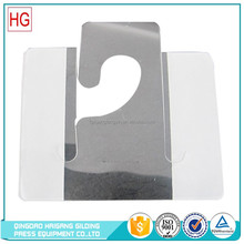 Hang Tab manufacture hot selling plastic J hook,J hook hang tabs for display