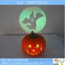 Home party decoration led halloween light up plastic pumpkins with projector