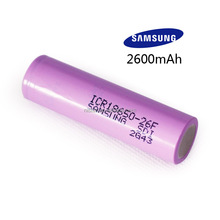Samsung ICR 18650 26F SDI 2A72 rechargeable RealCapacity Cylindrical Battery