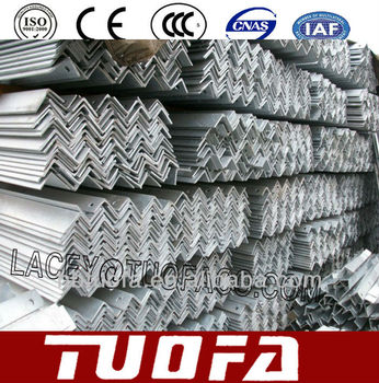 Hot-galvanized cross arm /angle steel 125*75*6/100*100