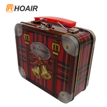 Best price small metal tin box with hinged lid can customized