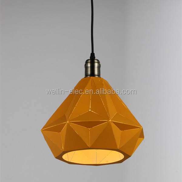Clean Color and Iron Material modern ceiling light Enamel Shade Enamel Ceiling Pendant Light - chandelier