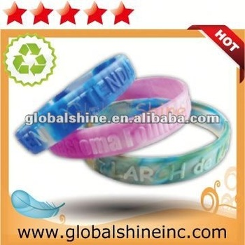 popular cheap custom silicone rubber bracelets