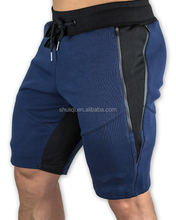 Men soft fabric fitness shorts customized logo 100%cotton/cotton polyester men sports shorts