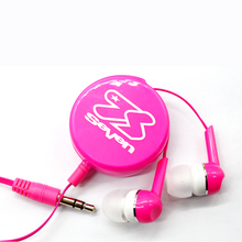 Quality free sample promotional items cheap retractable earphone
