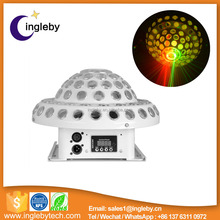 colorful mushroom led project disco light with laser effect for sale
