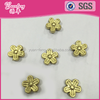 Indian design accessories dull plastic filled gold flower shape beads