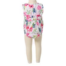 Howell infant girls sleeveless floral romper wholesale kids summer cheap romper
