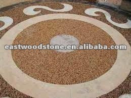 yellow river stone pebbles for floor decorating
