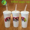 High-Quality 24oz Plastic Sippy Cup With LOGO Printing
