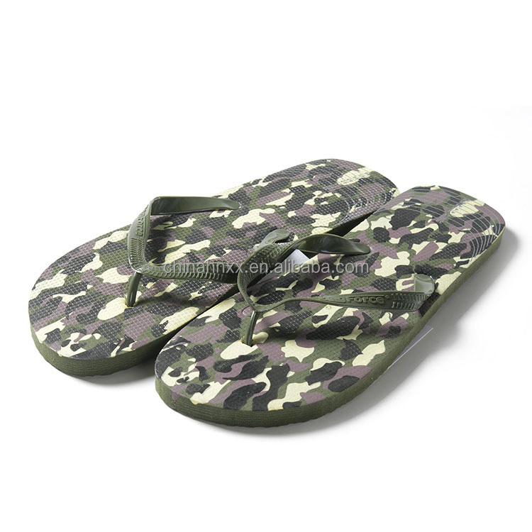 summer military camouflage PVC strap slipper