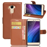 Wholesale flip leather case for Xiaomi Redmi 4 Prime with card slot mobile phone holster for Redmi 4 Prime