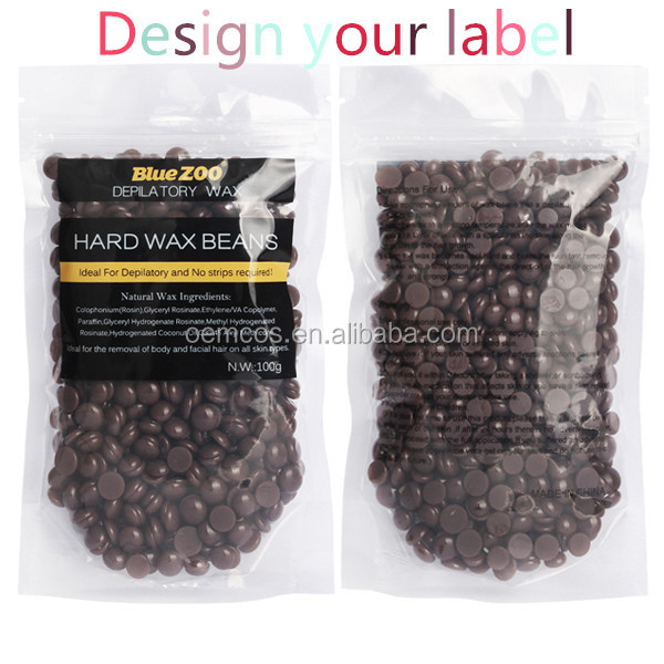 OEM New Arrival Hair Removal Wax Bean Stripless Natural Hot Film Hard Wax for Women and Men