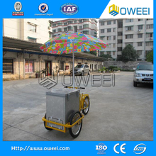 Mobile popsicle ice cream cart / tricycle ice cream cart for sale