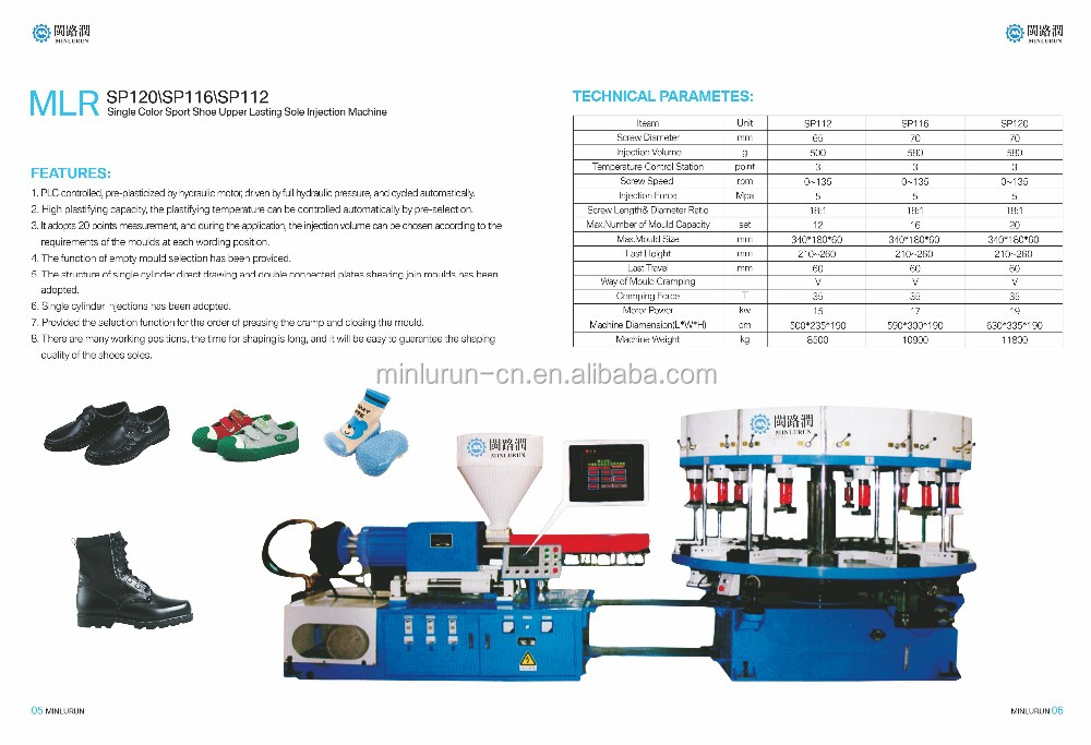 ROTARY SHOE SOLE INJECTION MOULDING MACHINE