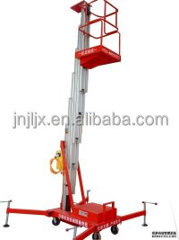 China lift manufacturer/mobile hydraulic single column aluminum alloy lifting table / elevating equipment