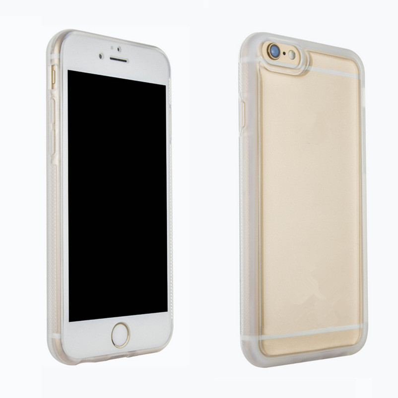 Non gravity phone case drop against transparent clear anti gravtity case cover for iphone