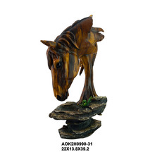 Custom Design Artificial Resin Figurines Horse Head Table
