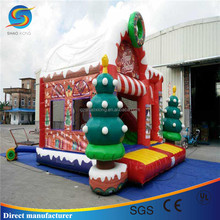 Christmas strong PVC Tarpaulin Material Inflatable Bouncer Castle