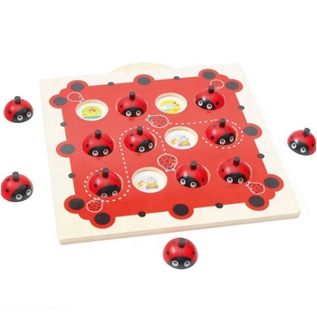 Wooden Matching Game Interactive Children's Puzzle Toys earning Math memory chess