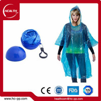 factory direct sale rainbow poncho folding disposable PE raincoat plastic raincoat In Ball Advertising gift poncho