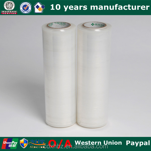 Xinhe 20/23mic pallet wrapping stretch film pe protective plastic film green