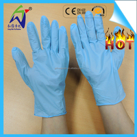 May Day price blue nitrile disposable gloves used in glass products